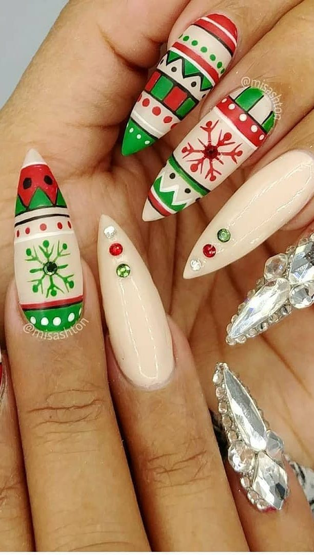 43 Feast And Bright Nail Art Ideas 2019 For Christmas Page 8 Of 43
