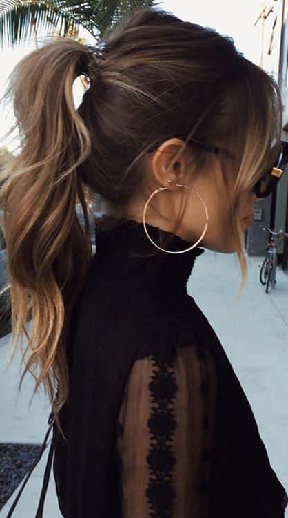 14 Cute Side Ponytail Ideas For Long Hair 2019 Womenselegance Com